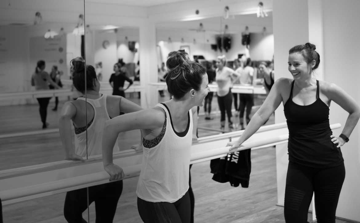 Laughing it up at Xtend Barre